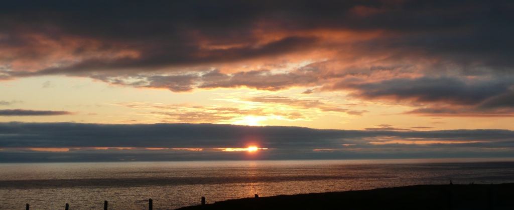 Sunset from Ceol na Mara - self catering in Wester Ross